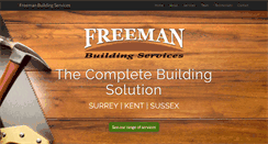 Preview of freemanbuildingservices.co.uk