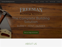 Tablet Preview of freemanbuildingservices.co.uk